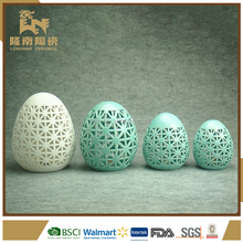 decorative ceramic craft gifts with LED light easter egg