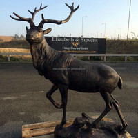 Hot sale outdoor decorative deer statues bronze casting stag statue