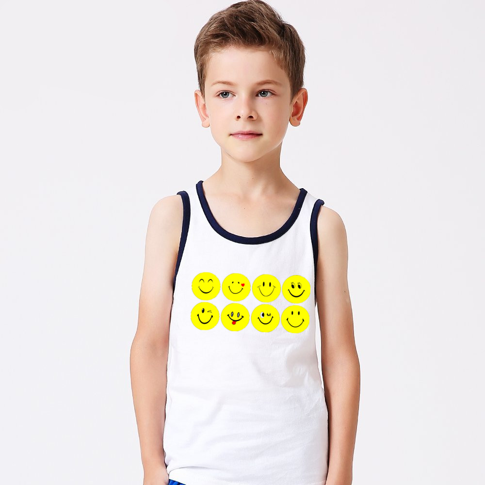 children's clothing kids cotton spandex white tank top kids singlets custom tank top printing design your tank top bulk striped
