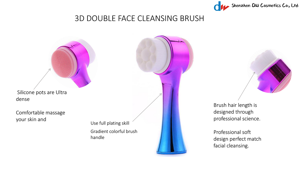 Affordable face exfoliator handle standing silicon facial brush