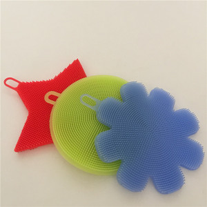 Kitchen cleaning appliances Better sponge Silicone dishwashers can be repeatedly used with a scouring brush