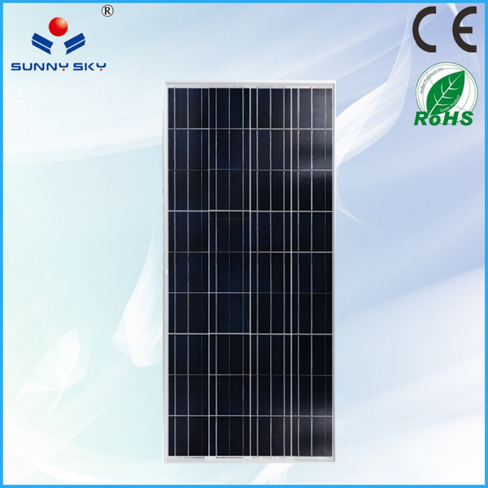 A grade 150w poly & mono solar cell 156x156 flexible solar panel with <strong>CE</strong> & ROHS certified TYP150