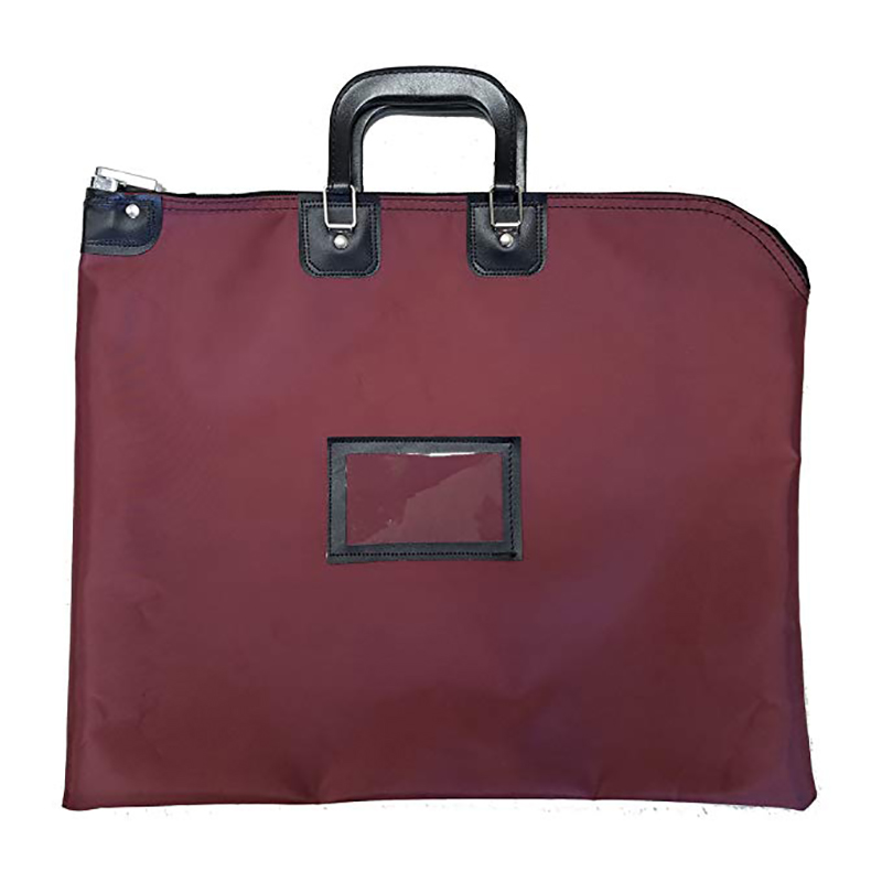 Custom Waterproof Nylon Briefcase Style Locking Document Bag with Handle for Men Women