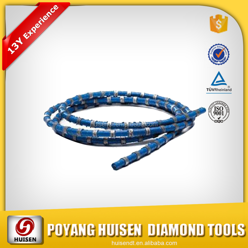 Huisen Diamond Tools Rubber Diamond Wire Saw Diamond Tools for Marble Quarry