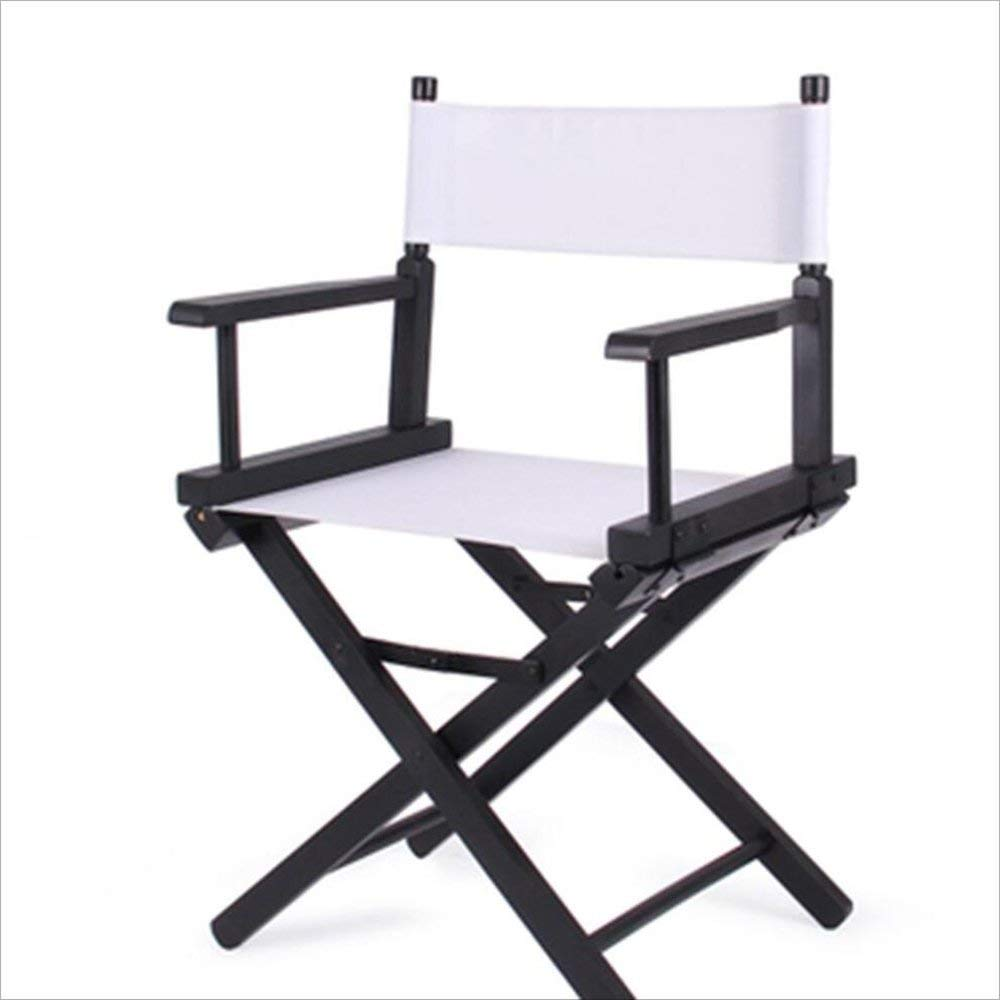 Feifei Solid Wood Director Chair Outdoor Leisure Portable Folding Chairs Home Computer Chair Canvas Chairs Makeup Chair Color Multiple Choice (Color : 03)