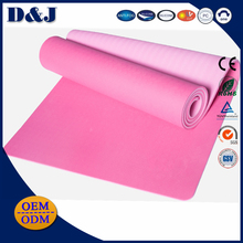 2 colors fitness equipments polyurethane 6mm thick yoga mat nbr non-slip from yoga mat wholesale