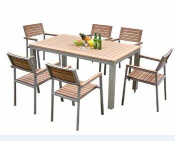 Mobili Da Giardino In Plastica : Mobili da giardino patio utilizzato in legno plastica tavolo e 6
