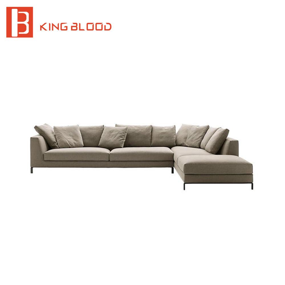 L shape germany modern living room corner sofa model furniture