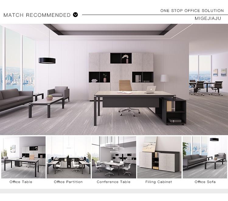 Muebles comerciales de uso general cubículos a plazas de trabajo con pedestal para 2 personas