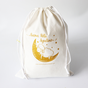 Medium Size Easter Toys Gifts Muslim Clothing Custom Drawstring Cotton Bag
