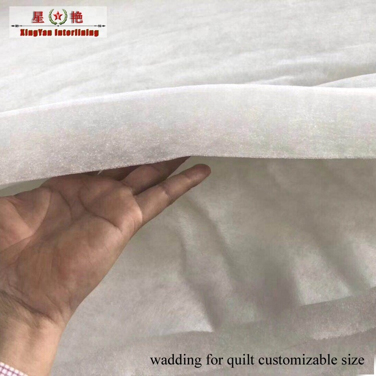 100 polyester fabric batting polyester quilt bedding <strong>material</strong> for wadding cutting polyester wadding for insulation <strong>material</strong>