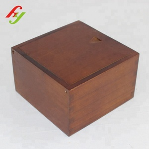 Custom Small Square Wooden Gift Boxes With Lid