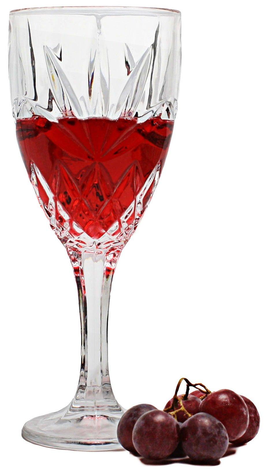 Bezrat White Wine Glasses Set of 6 12 Oz Superior Lead Free Crystal Beautifully Designed Stemware Wine Glasses