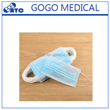 China Factory New Design 3-ply Non-woven Disposable Surgical Colorful Protective Face Mask With Ear-loop