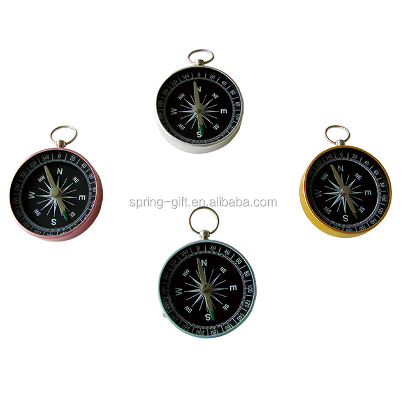 Promotion metal compass 와 keyring aluminium magnetic compass 키 체인