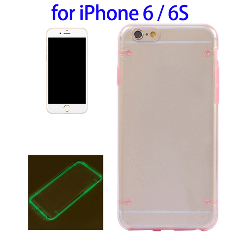 2016 New Luminous Frame Case for iPhone 6s, Hard Case for iPhone 6s Transparent