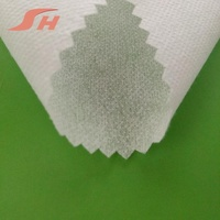 fusible stitched nylon Polyester Interlining fusing interlining Non Woven fabric