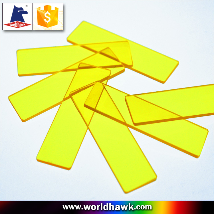 Cut Off type yellow glass color filter with 400nm 420nm 450nm 470nm 490nm 510nm 520nm