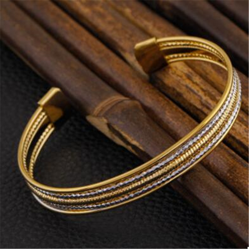 National wind women's 18 k gold plating copper bracelets hand act the role of foreign trade all over the sky star bangle bracele