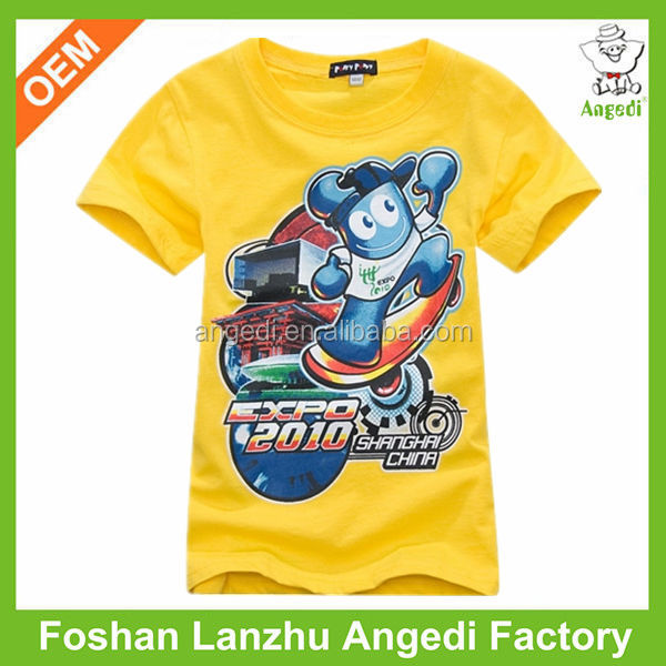 wholesale boys kids t shirts design with cartoon character print