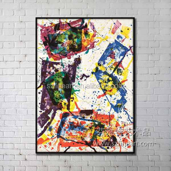 Art minds designer home decor pollock style modern painting