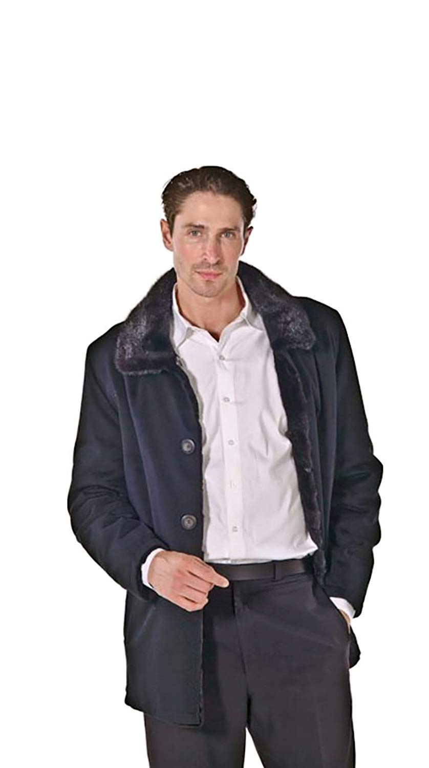 Madison Avenue Mall Mens Cashmere Jacket - Reversible To Mink Fur
