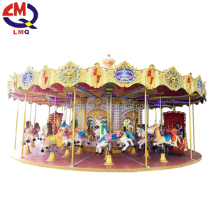 LIMEIQI China 16 seats lovely horse kids rides used carousel for sale