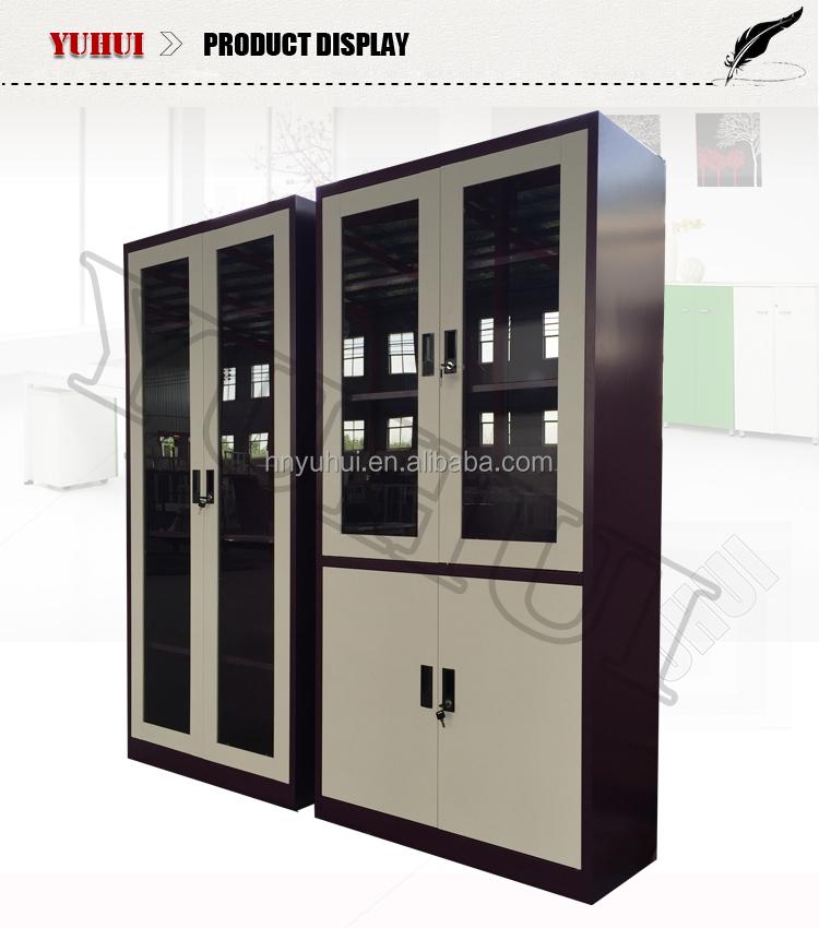 white glass door office file cabinet / metal file storage cabinet 2 door metal file cabinet