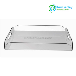 Clear Serving Tray Acrylic Tray For Coffee Table / Breakfast / Tea / Food