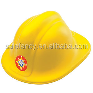 Yellow kids plastic motorcycle toy hat cover fireman helmet QHAT-8495