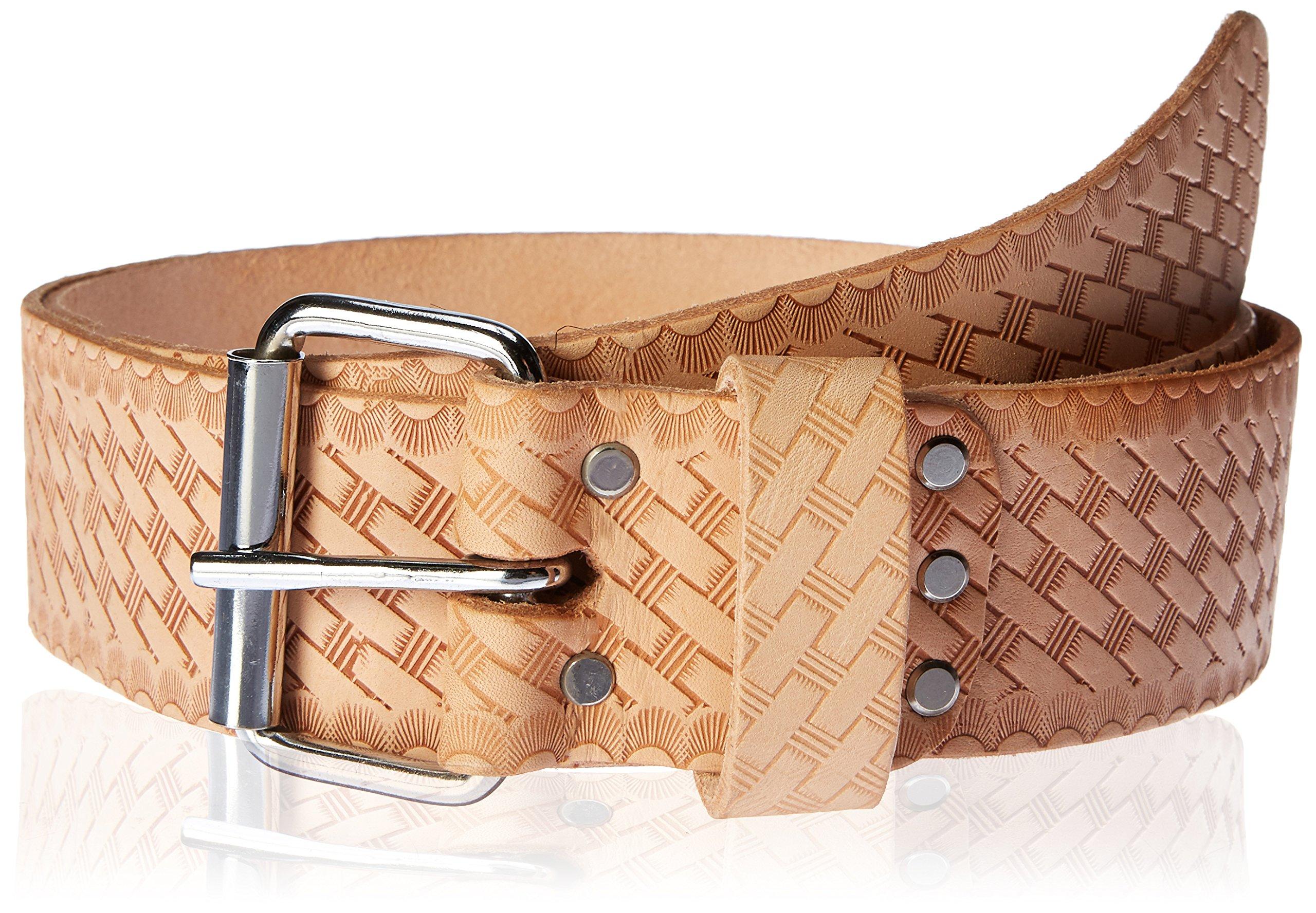Modestone Western Unisex Leather Belt 1.5 Width 1//8 Thick Black