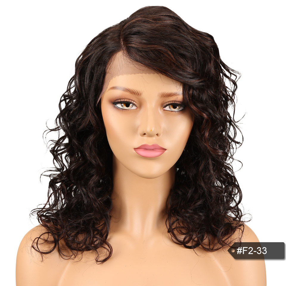 Indian Hair Wigs For Black Women French Curl Remy Hair Curly Lace Front Wig Curly Lace Front Human Hair wigs