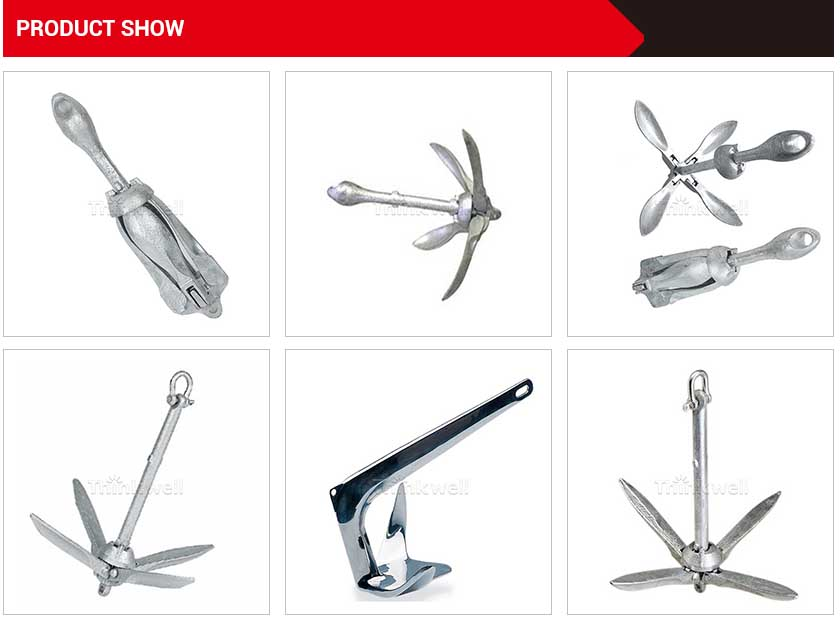 High Quality New Price Hot Dip Galvanized Folding Anchor For Boat
