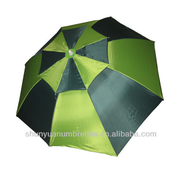 Double-deck Spring tilt Alu fishing/golf course parasol umbrella