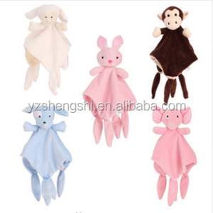 30cm Baby Plush Soothing Toys Security Blanket Cute Dog Baby Apease towels Softt Plush Animals Wipe hanging bathing for children
