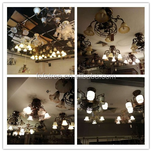 New Vintage Barn Metal Hanging Ceiling Chandelier 6 Lights Painted Finish