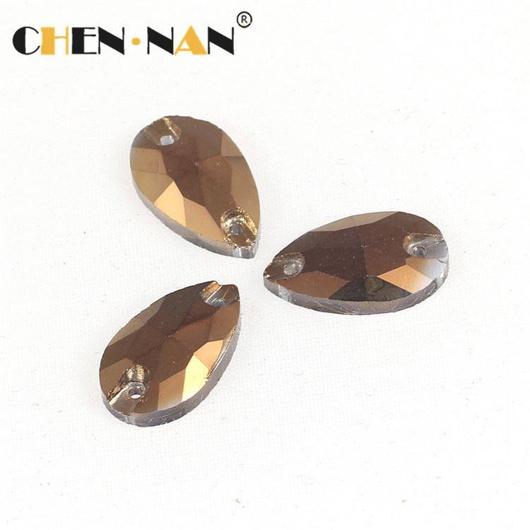 New product excellent quality loose flatback teardrop rhinestones
