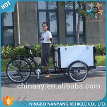 Classic Three wheel folding tricycle cargo coffee bike