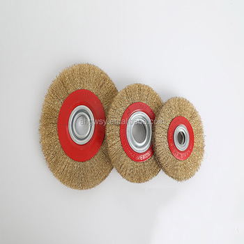 Steel Flat Wire Wheel Brush Adaptor Rings For Bench