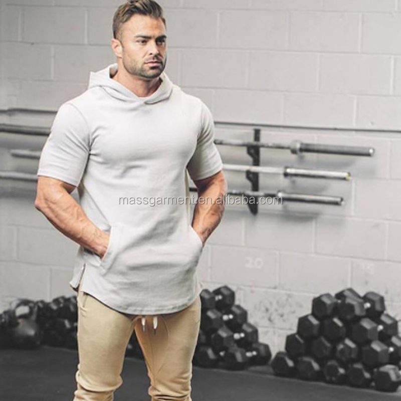 Fashion Pullover Gym Fit Hoodie Men Plain Custom T-shirt Sweatshirt
