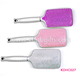 Quite Hot Rhinestone Studded Soft Bristle Fancy Hair Paddle Brush Cheap Price Customized Available