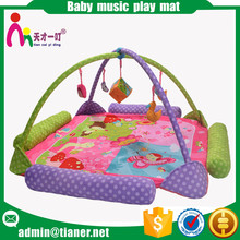 Wholesale in stock cotton baby play game mat with music