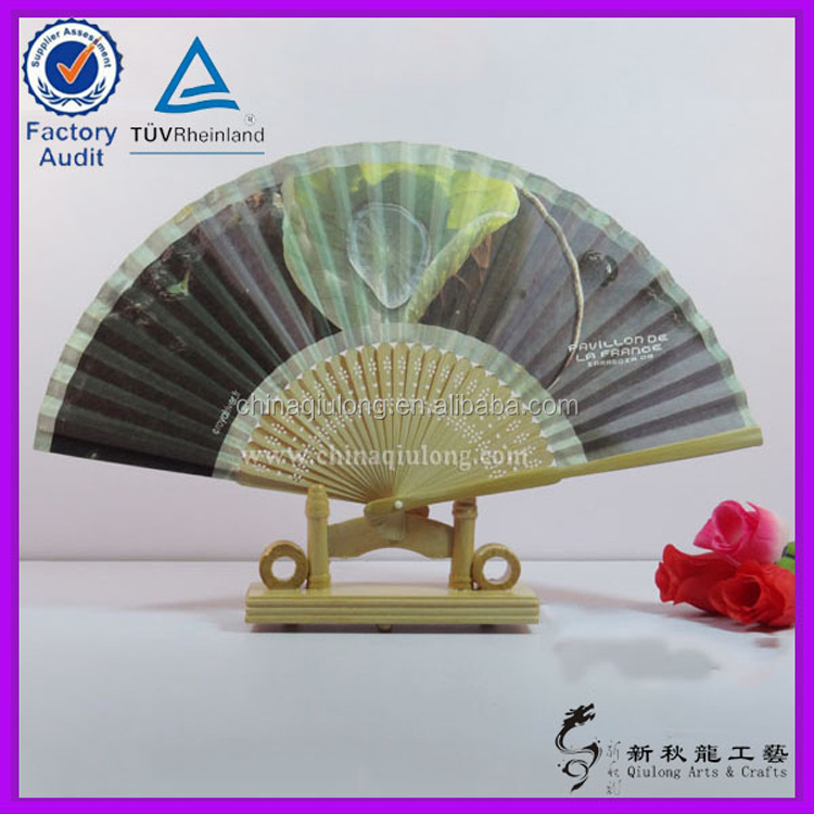 Chinese Personalized Bamboo Paper Hand Held Folding Fan