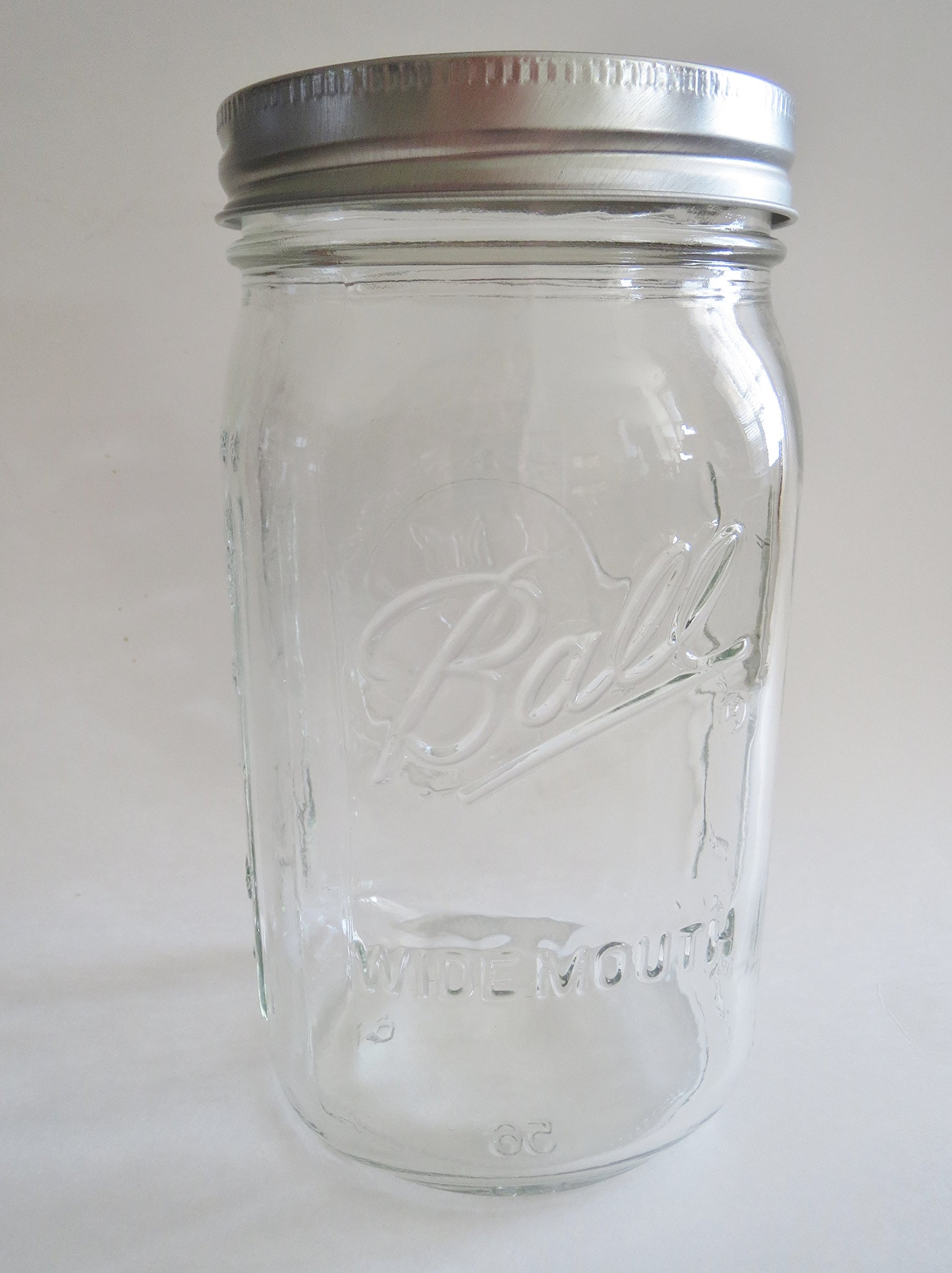 Ball Mason Jar-32 oz. Clear Glass Wide Mouth Ball Collection - One Jar