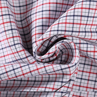 Stylish stretch checked cloth for shirt garments combed china textile 100 cotton fabric wholesale
