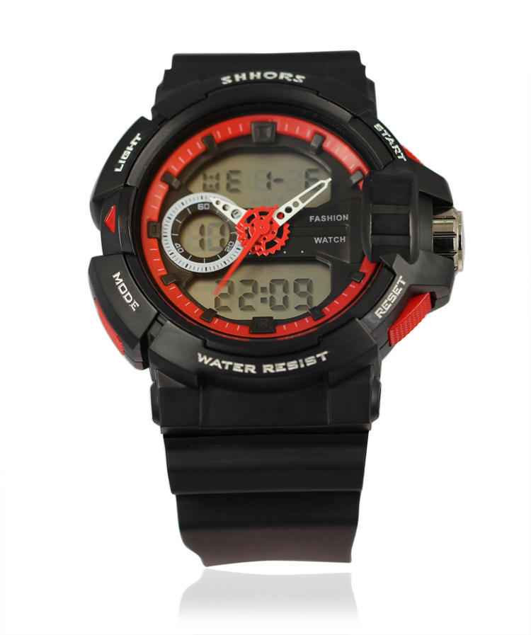 Activity Outdoor Sports Watch with Double Movements Multi-function LED Display Digital Sports Watches