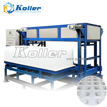 Koller DK50 5TPD Latest technology direct evaporated ice block machine