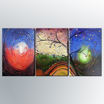 Top Artist Hand-painted High Quality Modern Abstract Oil Painting on Canvas  Beautiful Colorful Abstract Oil Painting for Hallway, View Abstract Oil