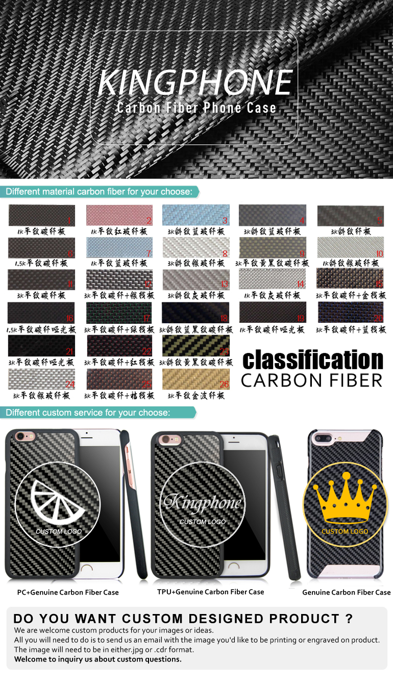 Accept OEM real carbon fiber phone case For iphone11
