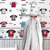 sport shirt pattern wallpaper kids room decoration wallpaper